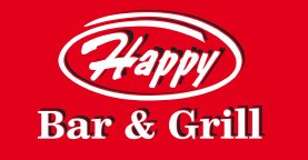 happy bar and grill logo